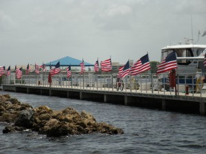 Flags on Dock